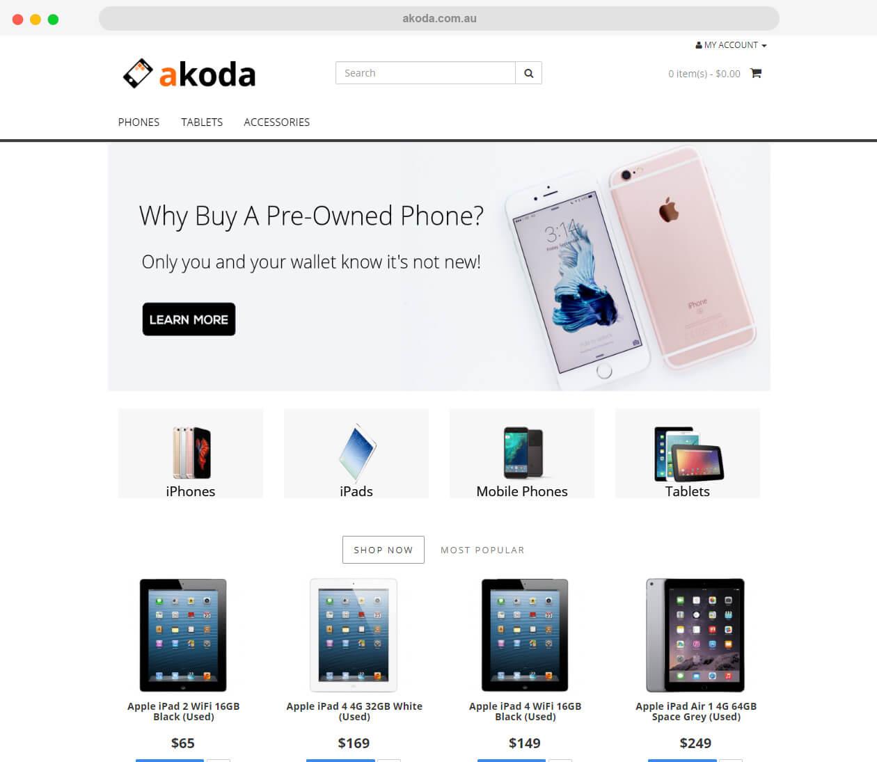 akoda.com .au website
