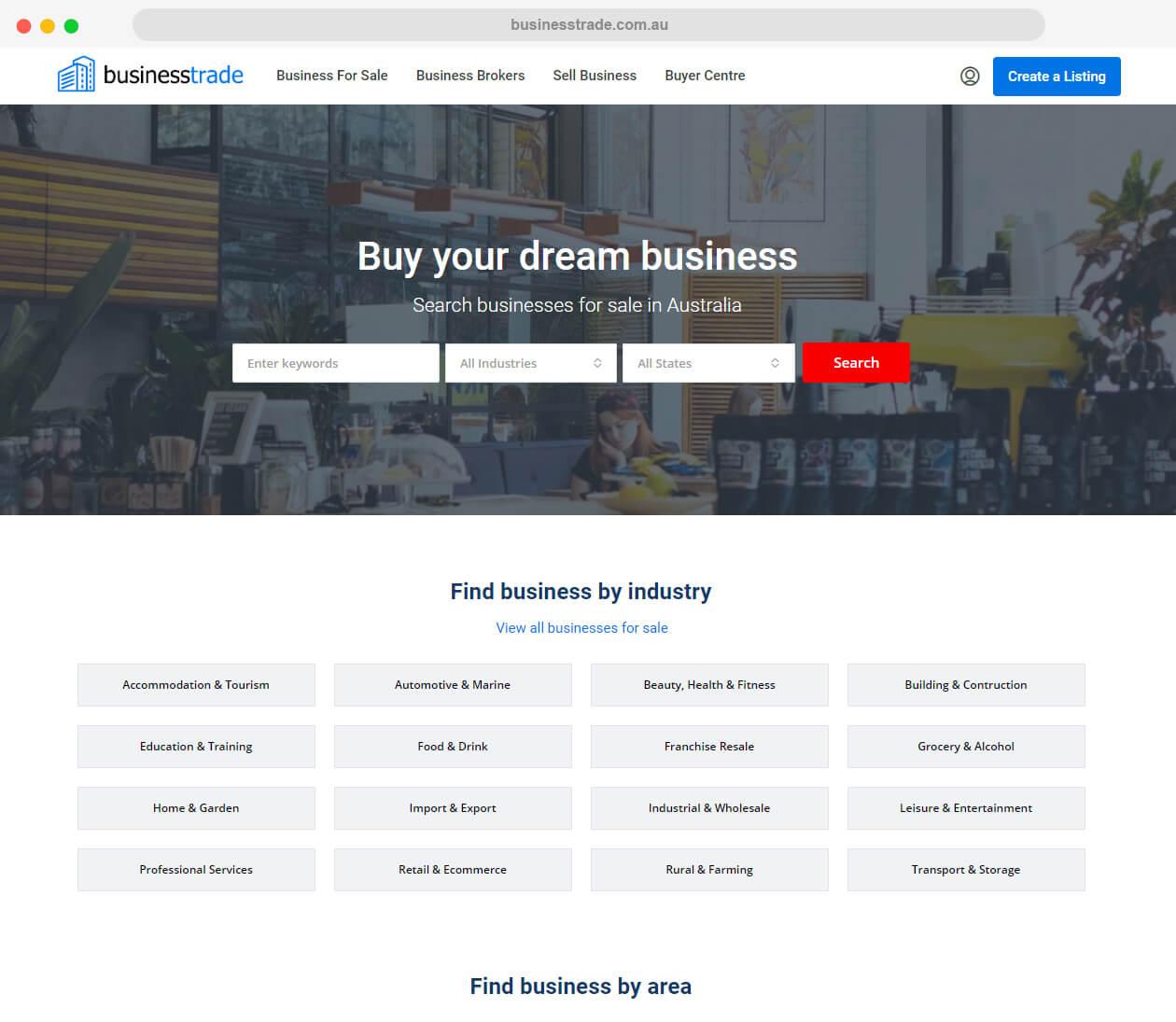 businesstrade.com.au - website