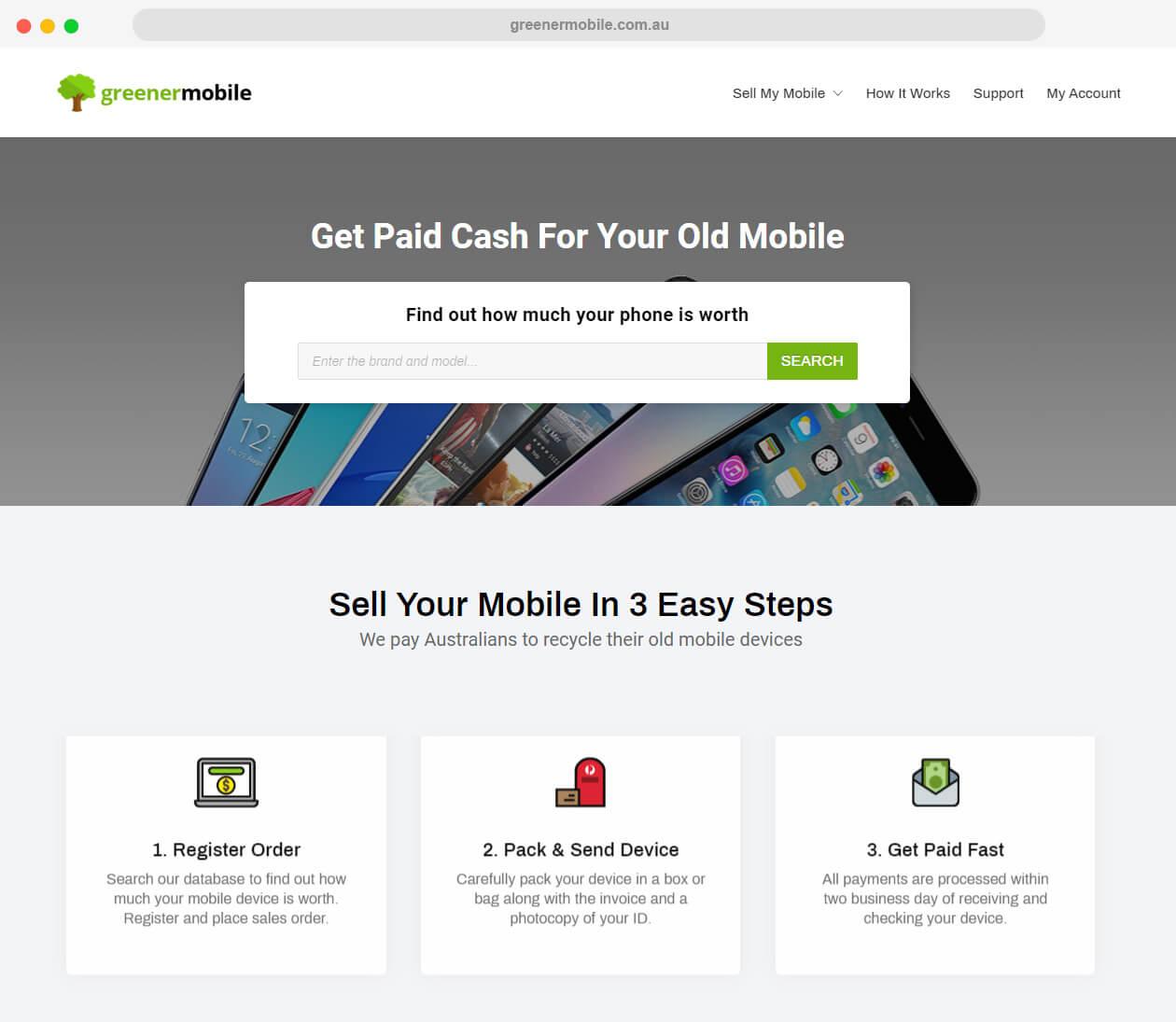 greenermobile.com .au website