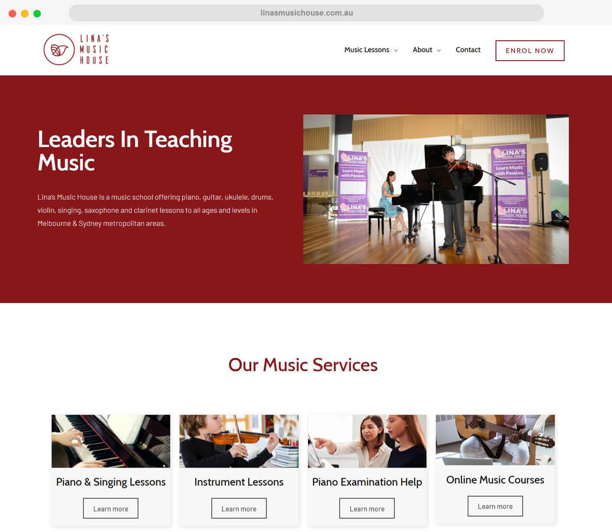 linasmusichouse.com.au-website